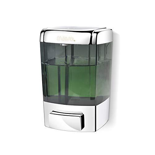 SVAVO Soap Dispenser Wall Mount 23.7oz / 700ml, Household Commercial Soap Dispenser Bathroom, Hand Soap Dispenser Wall Mounted for Liquid, Shower Body Wash, Restaurant, Kitchen, ABS Chrome