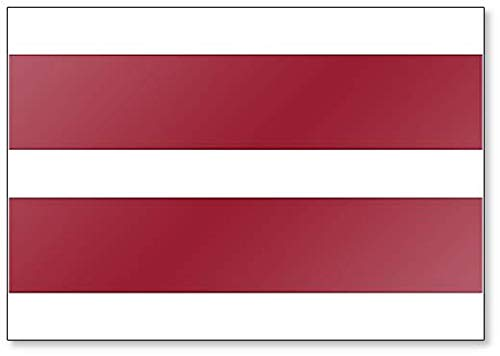 Kühlschrankmagnet, Motiv Flagge von Lettland