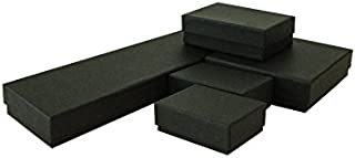 The Display Guys~ Pack of 100 Cotton Filled Cardboard Paper Black Jewelry Box Gift Case - Matte Black (Mix, 20 PCS of Each Size #11, 21, 32, 33, 82)