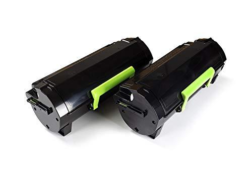 Green2Print Toner Doppelpack, 2 Kartuschen 2X 10000 Seiten ersetzt Lexmark 50F0XA0, 502XA, 50F2X00, 502X, 50F2X0E, 502XE passend für Lexmark MS410D, MS410DN, MS415DN, MS510DN, MS610DN, MS610DE, M