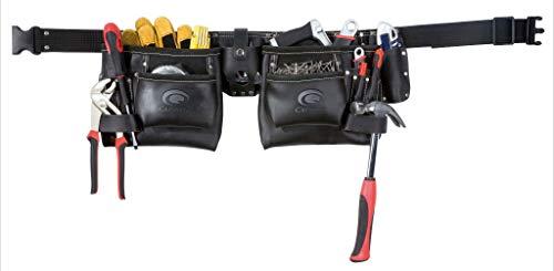 Toolpack Cinto porta-ferramentas duplo cinto couro industrial 366.000
