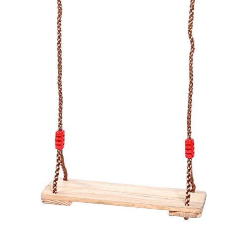 Alomejor Swing Seat for Children Teens Adult Rope Adjustable Wood Board Swing Infant Toy Adult Children Indoor and Outdoor Swing Plate Accessory(L)