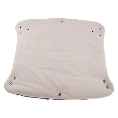 freneci Cochecito de Niño Accesorios Manoplas Cubierta de Mano Buggy Muff Fleece Warm Glove - gris, unico