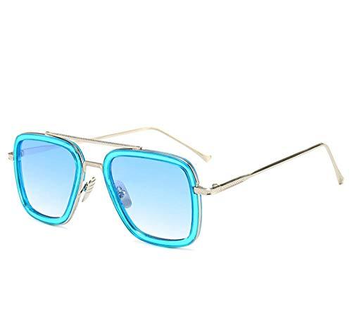 WANM Gafas de sol Gafas de sol cuadradas de moda-D