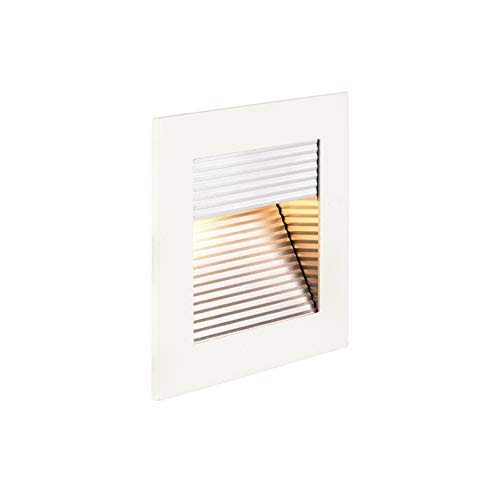 SLV LED Einbauleuchte Frame Curve | Wand- und Deckenleuchte für den Einbau | Eckig, Weiß, 2700K Warmweiß | Stilvolle Wandleuchte, Einbau-Strahler LED Treppen-Beleuchtung, Stufen-Licht, Treppenlicht