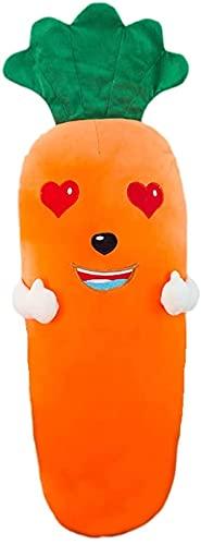Demin Peluches de Peluche, Lindas Almohadas de la Zanahoria de la Zanahoria Muñecas de Almohadas de Verduras rellenas Juguetes Suaves para niños niños y niñas (A, 29.5 Pulgadas)