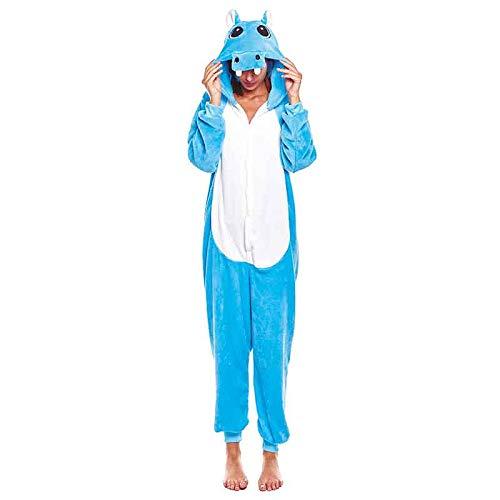 Pijamas Enteros de Animales Adultos Unisex (Tallas de Adultos S a L) Disfraz Pijama Hipopótamo Mono...