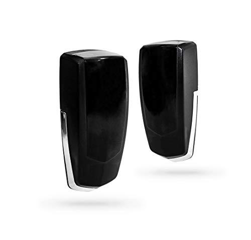 Juego fotocelulas universal de rayos infrarojos, tipo emisor-receptor para puerta automatica garaje y parking, sensor para deteccion de obstaculos, estandar compatible con todas las marcas