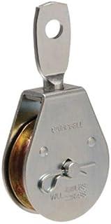 Campbell Chain 2-1/2 in. Dia. Zinc Plated Steel Swivel Eye Single Sheave Swivel Eye Pulley