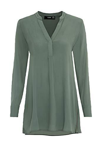 HALLHUBER Long-Bluse mit Seitenschlitzen gerade und weit geschnitten seegrün, 36