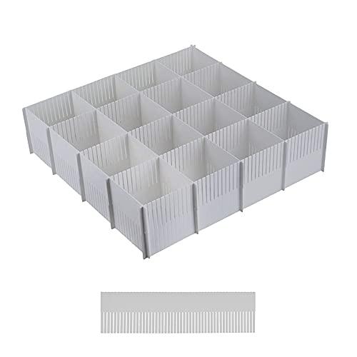 Separador Cajones, Organizador Cajones, Organizador de almacenamiento de cajón ajustable DIY de 10 piezas para artículos diversos, herramientas de maquillaje y calcetines (gris)