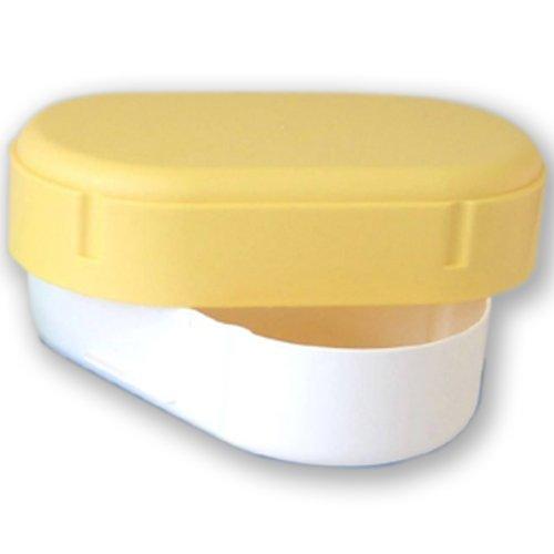 Brotdose oval in gelb spülmaschinengeeignet Lunchdose Brotbüchse Brotbox Dose Lunchbox