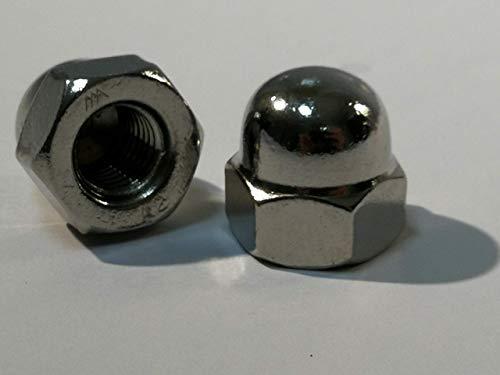 5 Stück Edelstahl Hutmuttern - DIN 1587 Material Edelstahl V2A (Edelstahl V2A, M10)