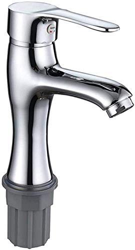 UOMUN Faucet de Lavado a Mano Faucet Faucet Hot y frío Lavabo en Lavabo Baño de Cobre Cuarto de baño Doble Tubo Cuenca Agujero Individual