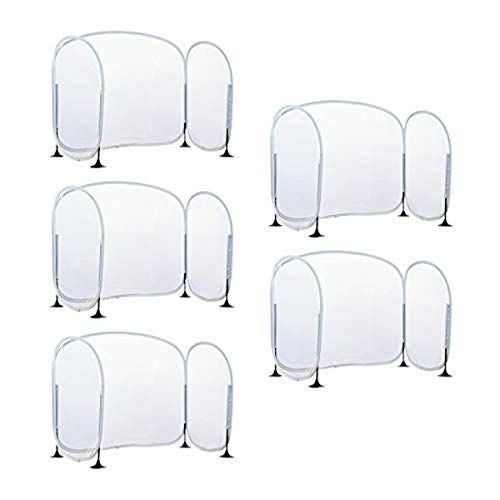 Excellerations Fold-Up Portable Desktop Barrier - Set of 5 – Student Germ Protection That Acts as a Sneeze Guard, Desk Shield, Personal Protection Screen or Desk Divider