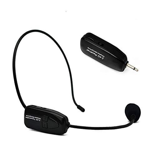 2.4G drahtloses Mikrofon-Headset, kabelloses Mic-Headset und Handheld 2 in 1 wiederaufladbar für Sprachverstärker, Bühnenlautsprecher, Reiseführer, Unterricht, Predigen und öffentliches Reden
