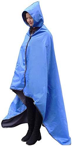 FANCYWING Outdoor Waterproof Fleece Blanket, Hooded Stadium Blanket...