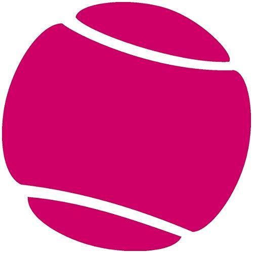 Samunshi® Autoaufkleber Tennisball Aufkleber in 7 Größen und 25 Farben (50x50cm pink)