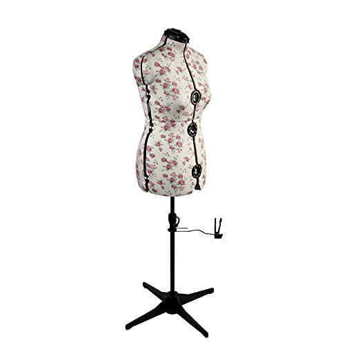 Maniqui Costura Ajustable Floral Clásica | Medio (M) [Talla EUR 44 a 48]