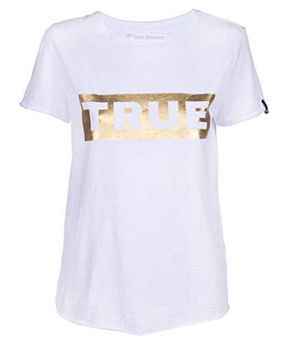True Religion Boxy Shirt True Camiseta, Blanco (White 1700), 40 (Talla del Fabricante: Medium) para Mujer
