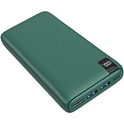 A ADDTOP Powerbank 26800mAh con 18W USB C Power Delivery Caricabatteria Portatile con Display Digitale LCD e 4 Porte per Smartphone, Tablets