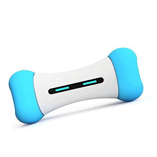 Zhenwo Wickedbone Smart Pet Emotional Interaction Bone Toy Smart Dog Cat Toy App Control Can React to Pet's Emotions Toy for Dog,Blau