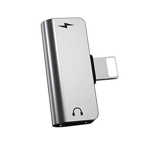 Adaptador de Auricular para iPhone 11 con/música/Carga, Compatible con iPhone 11 Pro/XS MAX/X/XS/XR / 8/8 Plus / 7/7 Plus, Compatible con Todos los Sistemas iOS