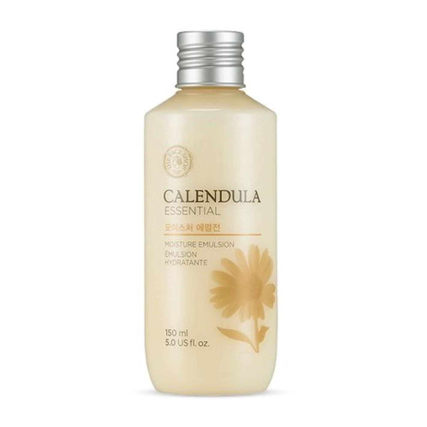 賛美歌繁雑雇用者THE FACE SHOP Calendula Essential Moisture Emulsion 150ml/ザフェイスショップ カレンデュラ エッセンシャル モイスチャー エマルジョン 150ml