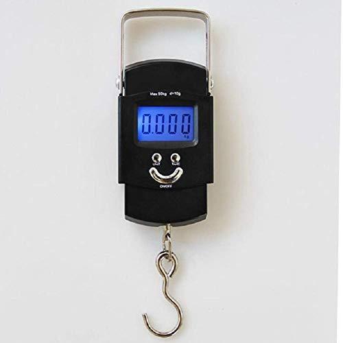 JYCTD Hot Mini Hanging Scale Pocket Portable 50kg LCD Digital Hanging Luggage Weighting Fishing Hook Scale Básculas de Peso electrónicas, Color como Muestra la Imagen