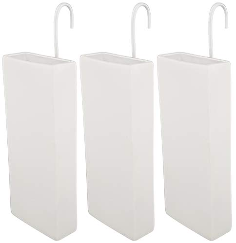 Luftbefeuchter für Heizung Set inkl. Haken - Keramik Wasserverdunster - weiß beige - Wasserverdunster verdampfer verdunster Heizkörper - Neutral - 3 Stück