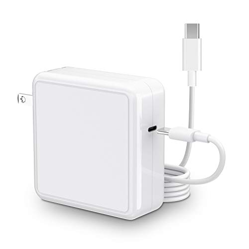 """SIMPFUN Mac Book Pro Charger 96W Compatible with MacBook Pro Charger 96W & 87W & 61W & 30W Fast Charging for Mac Book Pro 13'' 15'' 16""""& Mac Book Air 13 inch 2020/2019/2018(with 6.56ft Cable)"""
