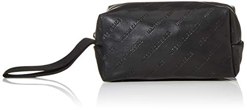 Urban Classics Imitation Leather Cosmetic Pouch, Accessoire Mixte, Noir, Taille Unique
