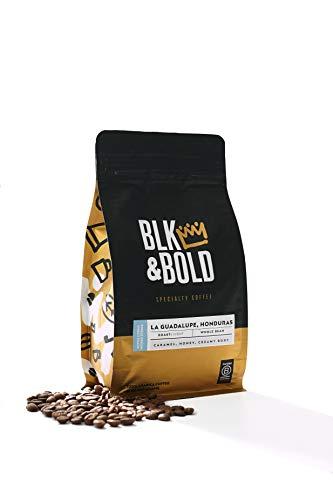 BLK & Bold | BLK & Bold Coffee Blend | Fair Trade Certified | Dark Roast | Whole Bean Coffee | 12 oz. bag