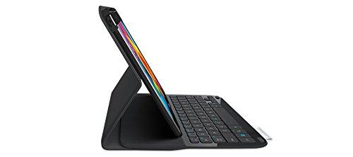 Logitech 920-006389 UltraThin Folio Schutzhülle mit Tastatur (QWERTZ) geeignet für Samsung Galaxy Tab 4 25,7 cm (10,1 Zoll) schwarz