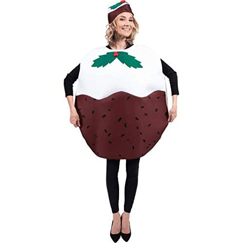 Adult Christmas Pudding Xmas Party Funny Fancy Dress Costume - Women's Christmas Fancy Dress Outfits: Amazon.co.uk
