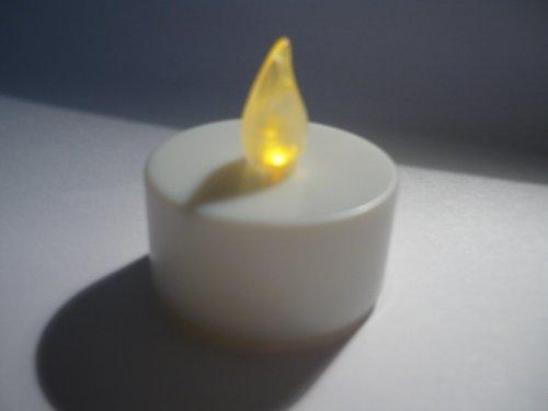 6 Bougie chauffe-plats LED à flamme scintillante inclusive piles