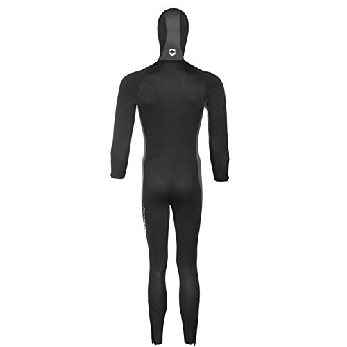 HJFGIRL Traje De Buceo De 5 Mm Mangas Largas Engrosadas De Una Pieza Traje De Surf con Esnórquel con Protección Solar Traje De Baño De Invierno Traje De Medusa,Black-Xlarge