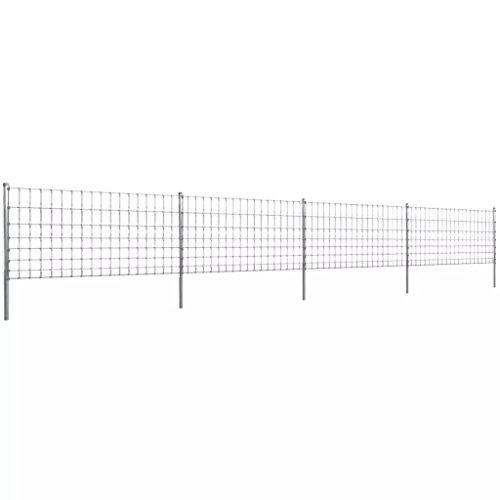 Weidehek met palen 100/8/15 50 m verzinkt ijzer