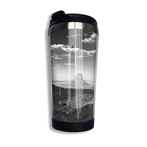 XCNGG Monument Valley - Toalla de cara variada en blanco y negro Pesadilla antes de Navidad Taza de viaje para café Taza de acero inoxidable Vaso aislado al vacío 13.5 oz