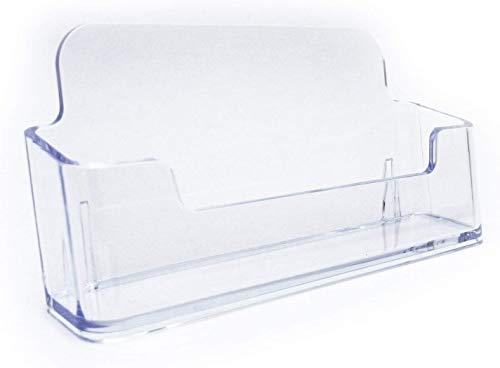 [necker] 名刺 スタンド 名刺立て カード 立て ホルダー 収納 ディスプレイ ケース アクリル (1段, 2個セット)