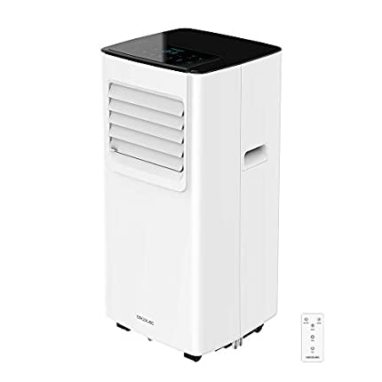 Cecotec Aire Acondicionado 3 en 1 Portatil EnergyClima 7050. Refrigeración, ventilación y deshumidificación. Ultrasilencioso. 7000 BTU. 300 m³/h. Pantalla. Temporizador 24 h. Mando a Distancia