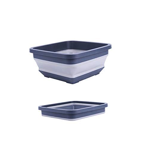 Kehuitong Faltzylinder, Eimer, Plastikhaushalts-Autowäsche-Eimer, tragbarer Lastwagen mit Fischen im Freieneimer Qualitativ hochwertige Produkte 1 (Color : Blue)