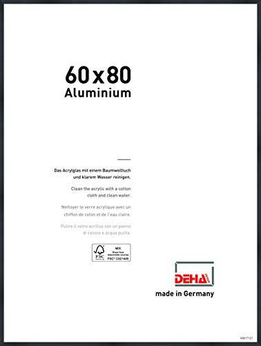DEHA Aluminium Bilderrahmen Tribeca, 60x80 cm, Struktur Schwarz Matt