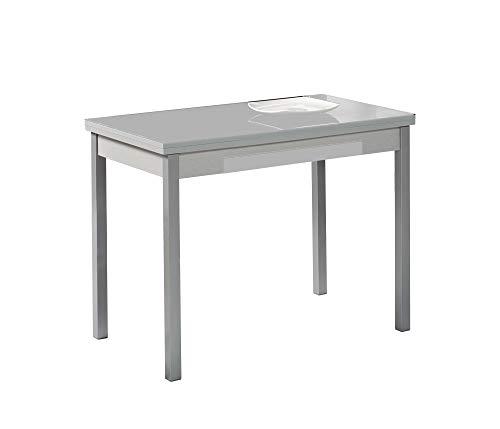 ASTIMESA Mesa de Cocina con Alas Gris 90x50cm