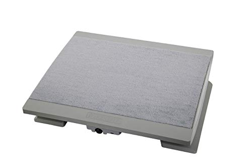 Maul Ergonomische Fußstütze, Beheizbar, Höhenverstellbar, Teppichbelag, Große Stellfläche 45x39 cm, Grau, 9025085
