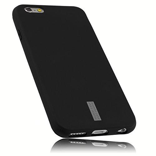 mumbi Hülle kompatibel mit iPhone 6 / 6S Handy Hülle Handyhülle, anthrazit mit grauem Streifen