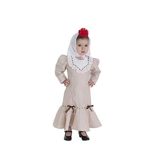Creaciones Llopis Disfraz de Chulapa Beige para bebé