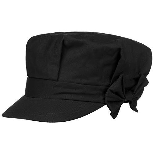 Seeberger Edna Damen Newsboy Cap mit Schleife (One Size - schwarz)