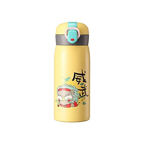Wenyounge Botella Termo-Estilo Clásico Chino Cubierta De Rebote Taza De Té De Acero Inoxidable Botellas De Agua para Regalo Oficina Escuela En Casa