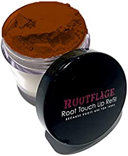 Root Touch Up Hair Powder - Temporary Hair Color, Root Concealer, Thinning Hair Powder and Concealer Refill Jar with Detail Brush Included, .31 oz (Dark Copper Red) …